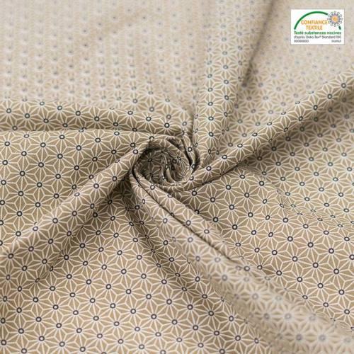 Coton lin petit motif asanoha