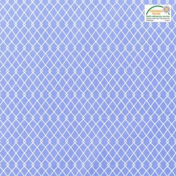 Coton bleu jean motif etnia