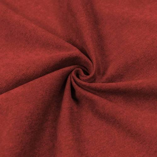 Toile aspect velours rouge carmin