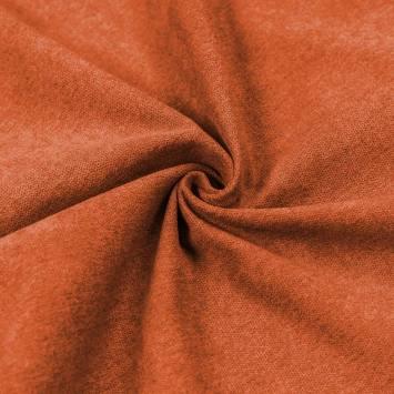 Toile aspect velours orange