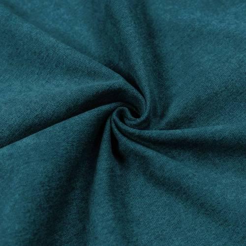 Toile aspect velours bleu canard