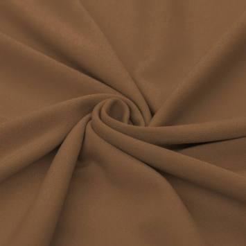 Tissu crêpe noisette
