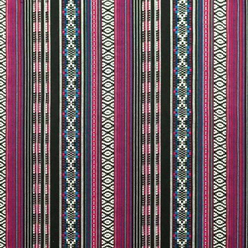 Tissu mexicain bleu et rose