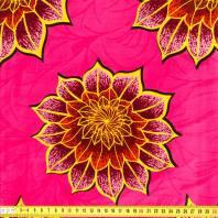 Wax Tissu Africain Enduit Rose A Fleurs 175 Pas Cher Tissus Price