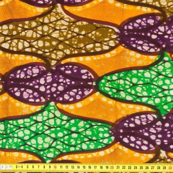Wax - Tissu africain multicolore 154