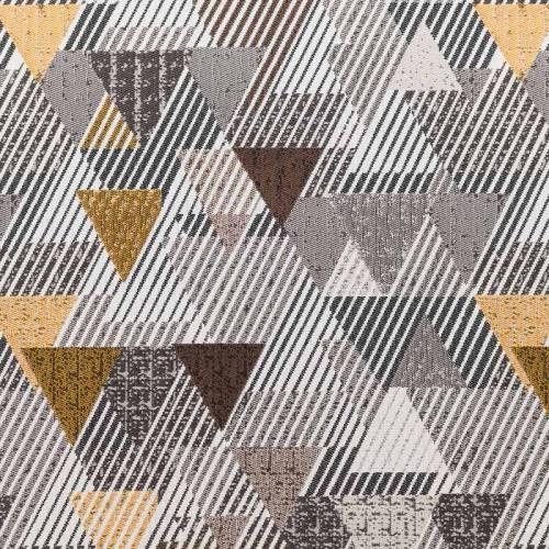 Jacquard barry géométrique gris et noir