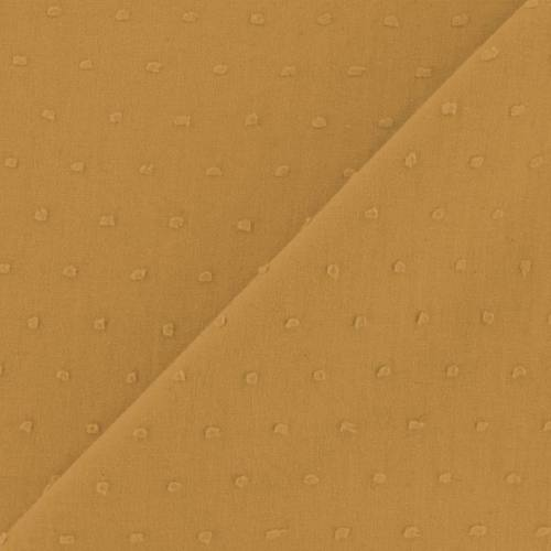 Voile de coton plumetis jaune
