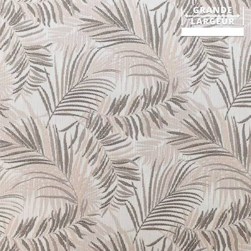 Jacquard jungle tibal beige et gris