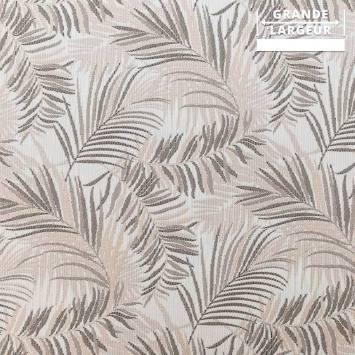 Jacquard jungle tibal beige et gris