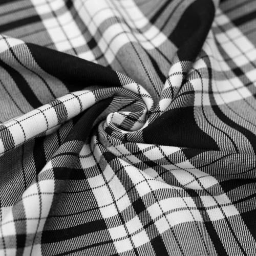 Tissu tartan gris motif écossais