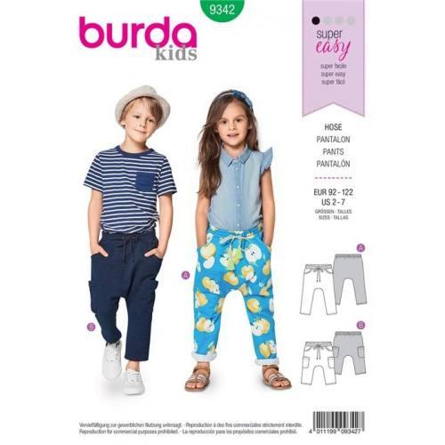 Patron Burda 9342 : Pantalon Taille 92-122 cm