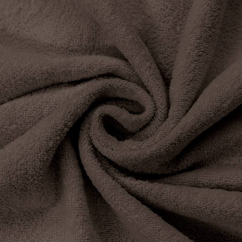 Tissu éponge marron glacé