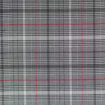 Tissu tartan rouge et noir