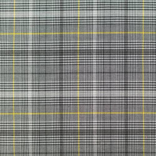 Tissu tartan jaune et noir