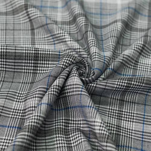 Tissu tartan bleu et noir