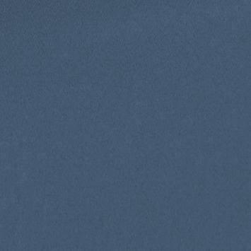Toile coton demi-natté bleu guede