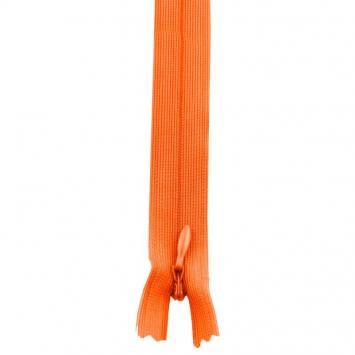 Fermeture à glissière invisible 22 cm Col 120 orange