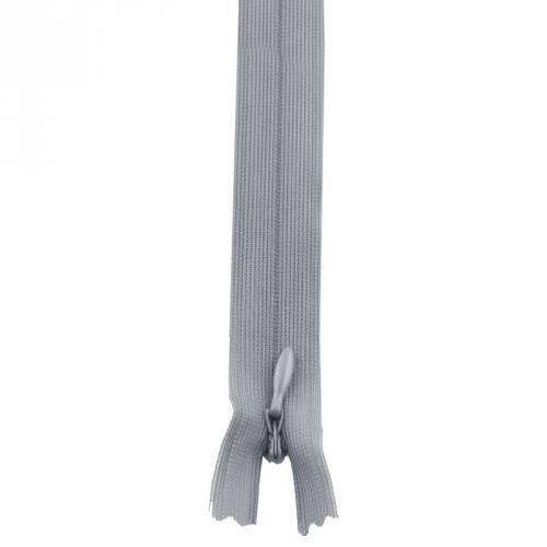 Fermeture à glissière invisible 60 cm col 170 grise