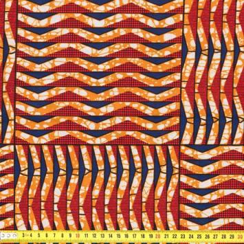Wax - Tissu africain triangle et carré 191