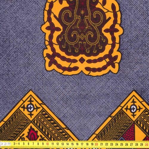 Wax - Tissu africain arabesque jaune 198