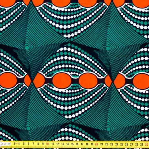 Wax - Tissu africain psycho orange 200