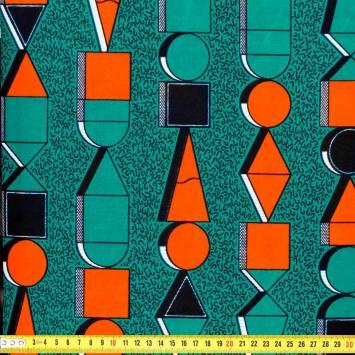 Wax - Tissu africain rond et carré 203