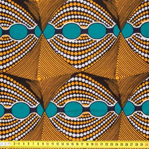 Wax - Tissu africain psycho jaune 205