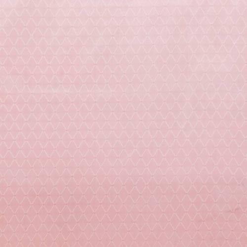 Satin asiatique rose motif losange