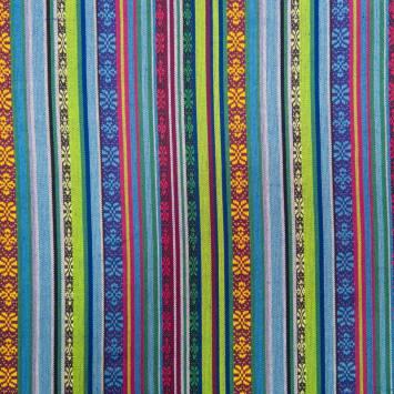Tissu mexicain bleu et vert