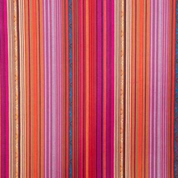 Tissu mexicain rose et orange