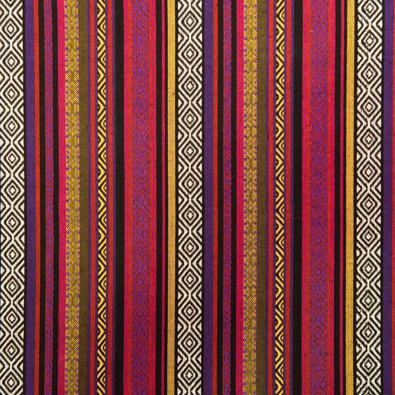 Tissu mexicain tressage violet