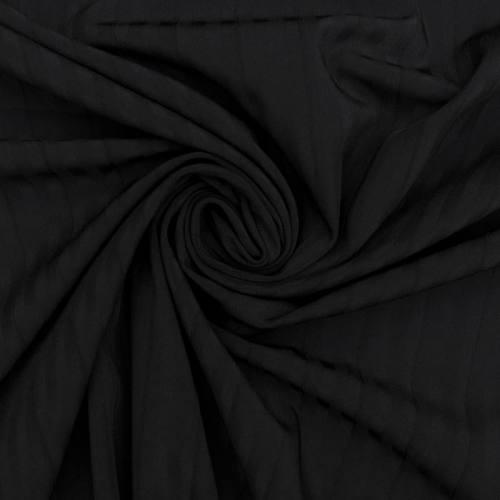 Gabardine noire à surpiqûre