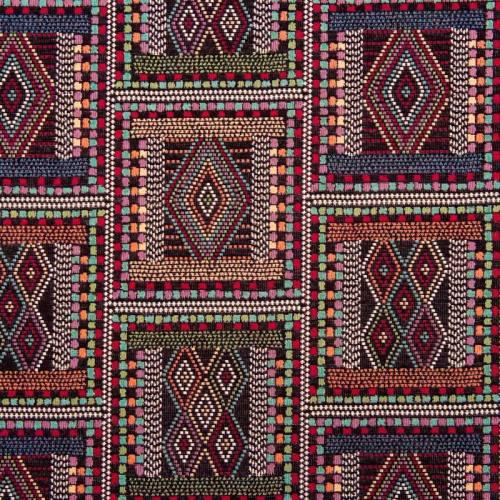 Jacquard noir motif Zulu