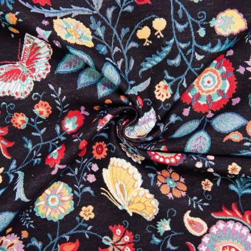 Jacquard noir motif Indonesia