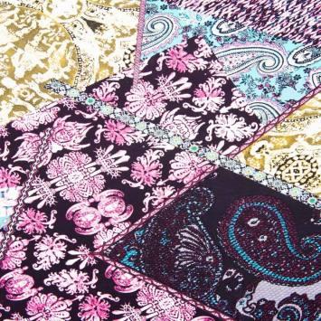 Tissu viscose motif Jammu-Cachemire
