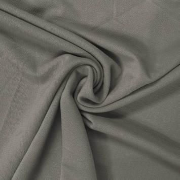 Tissu crêpe satiné vert de gris