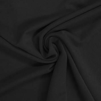 Tissu crêpe stretch noir