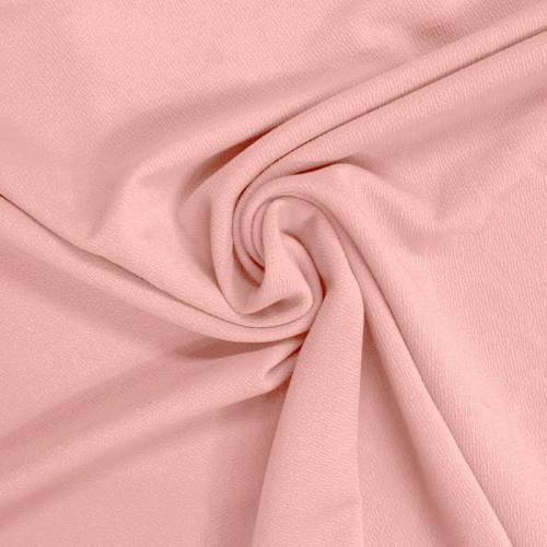 Tissu crêpe stretch rose dragée