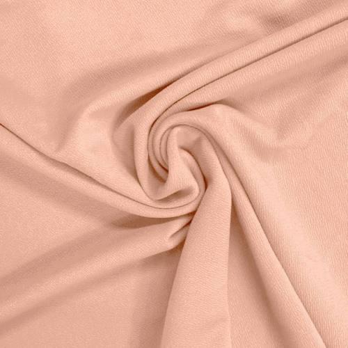 Tissu crêpe stretch rose poudré
