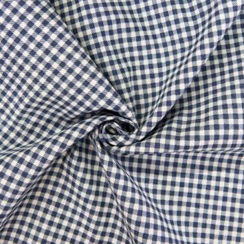 Tissu jean motif petit carreau
