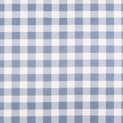 Tissu jean clair motif grand carreau