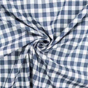 Tissu jean motif moyen carreau
