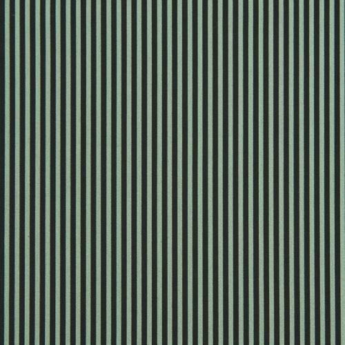 Popeline de coton imprimée rayures vertes