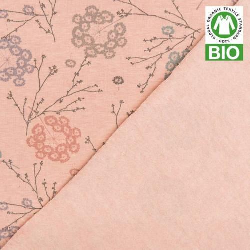 Jersey bio rose imprimé floral