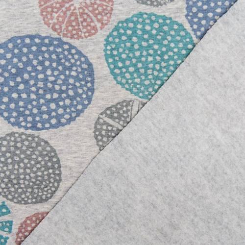 Jersey bio gris imprimé cercles ajourés