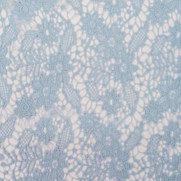 Dentelle guipure bleu clair motif Washington