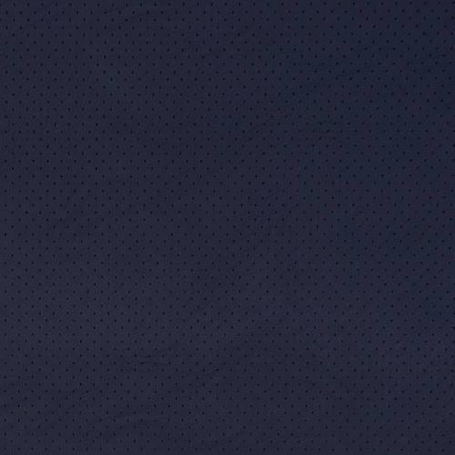 Simili cuir extensible perforé bleu marine