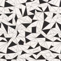 Jersey motif géométrique noir et blanc