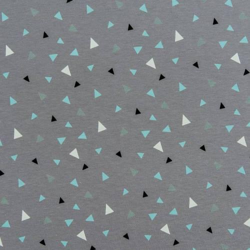 Jersey gris foncé motif petit triangle coloré