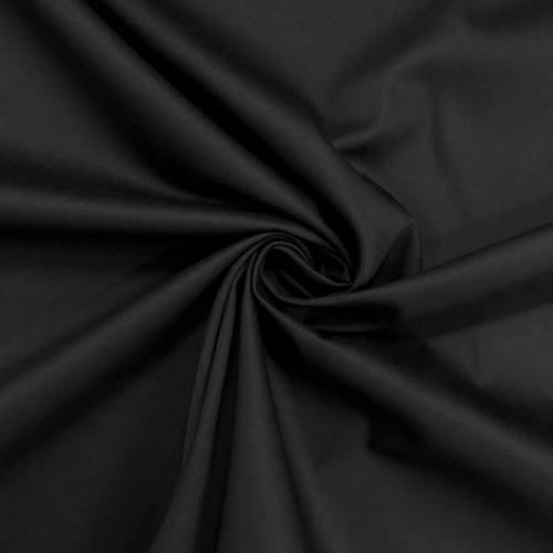 Satin de coton noir